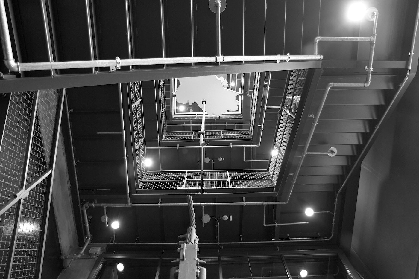 Zeche Zollverein. Treppengang zum Portal der Industriekultur