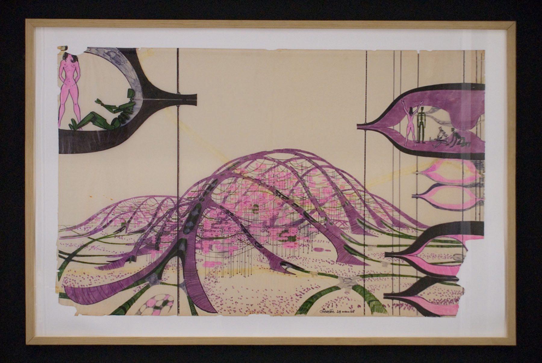 """FRAC Centre-Val de Loire. """"Ville alligator"""" von Chanéac (1968)"""
