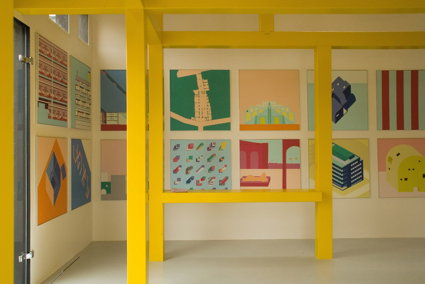 "La Médiathèque Orléans. ""A house from a drawing of Ettore Sottsass – Cabinet of Curiosity"" von 2A+P/A (2017), Außenansicht"