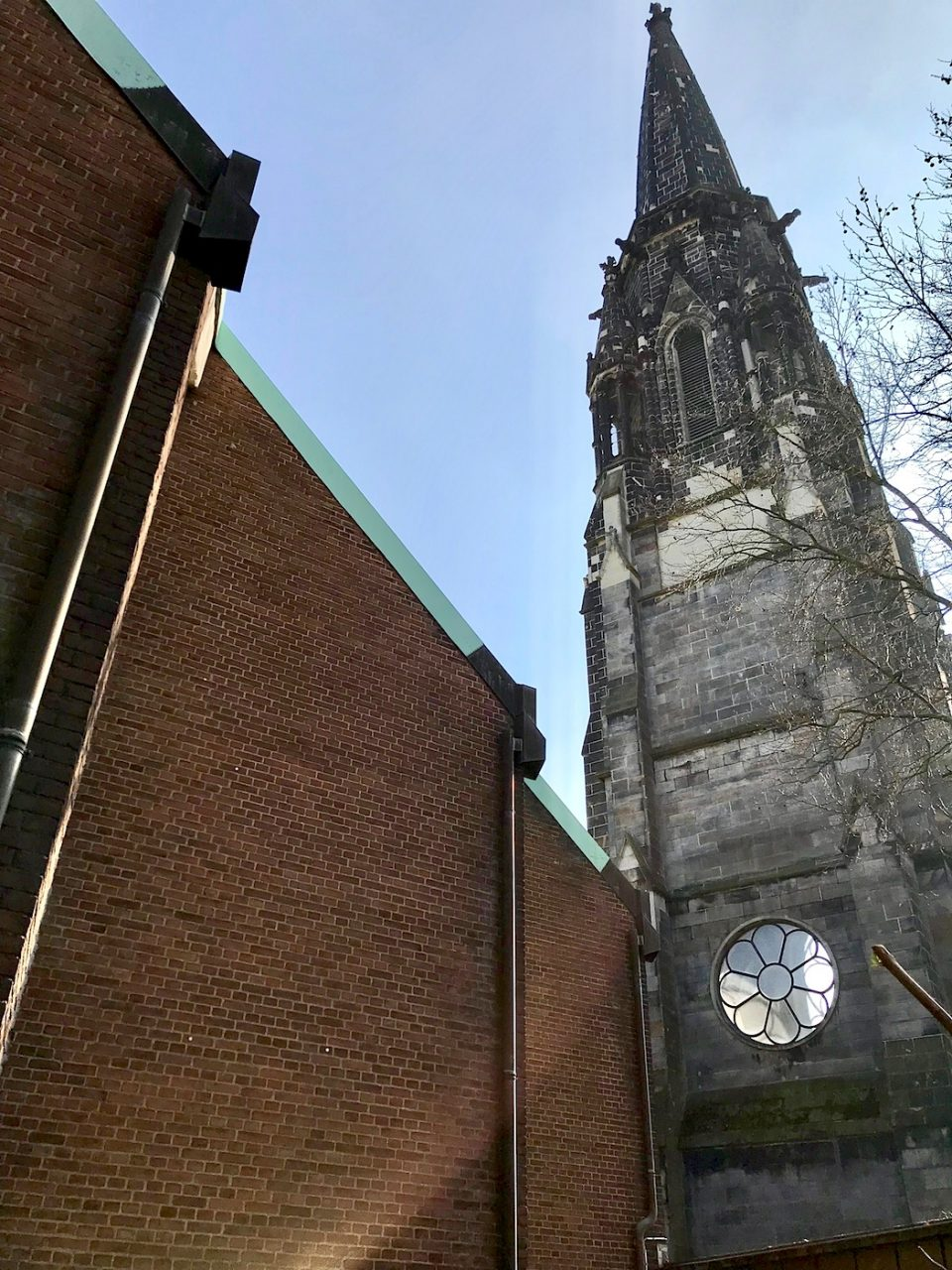 Christuskirche Bochum.  ... 1957 fertiggestellt wurde.