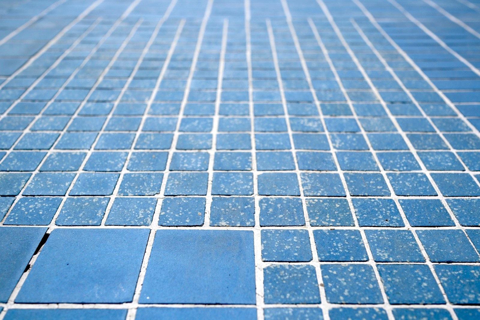 Tränenpalast. Blaue Mosaikfliesen an den Seiten