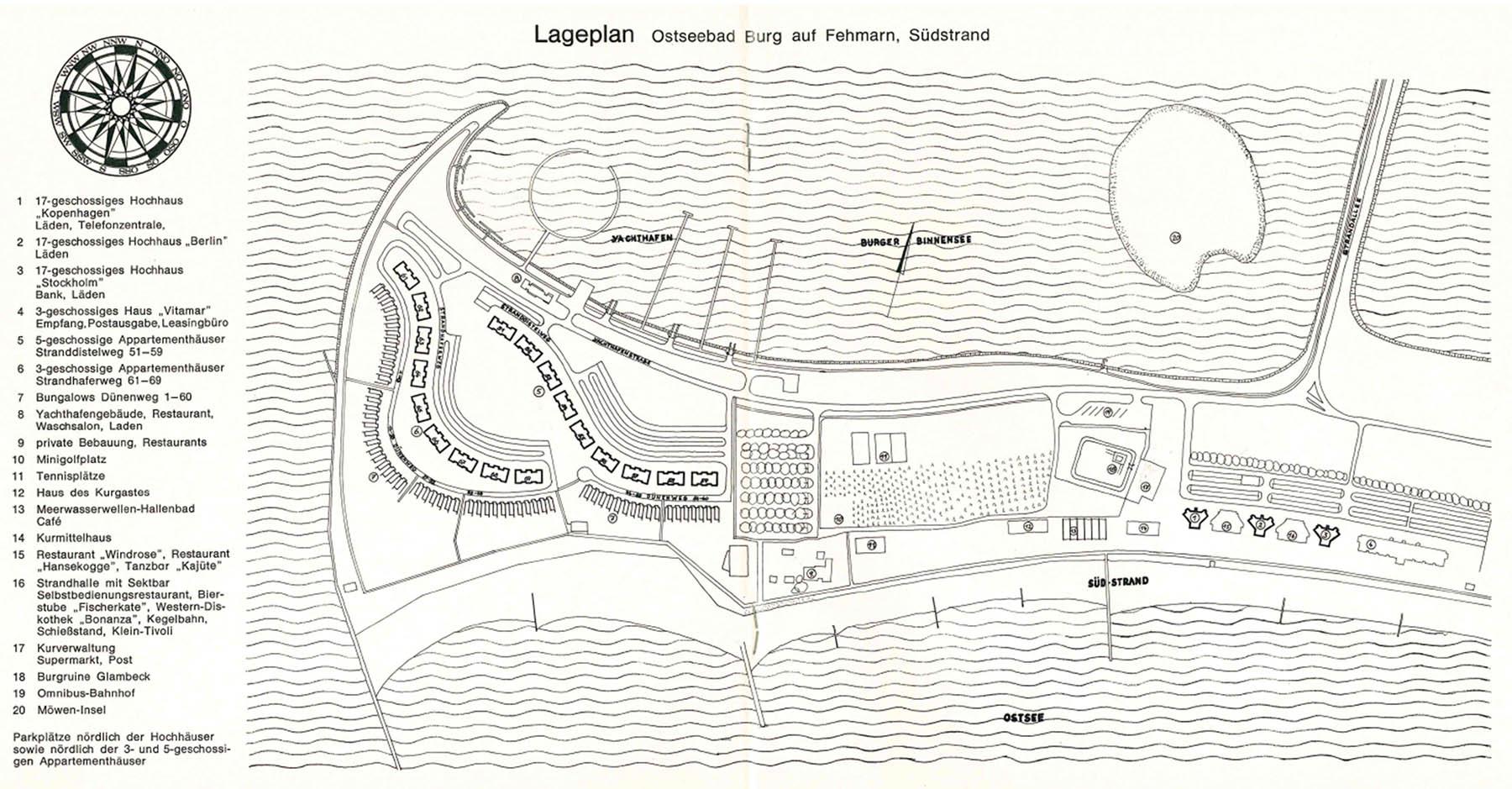 Lageplan Burgtiefe. Aus einem IFA-Heft