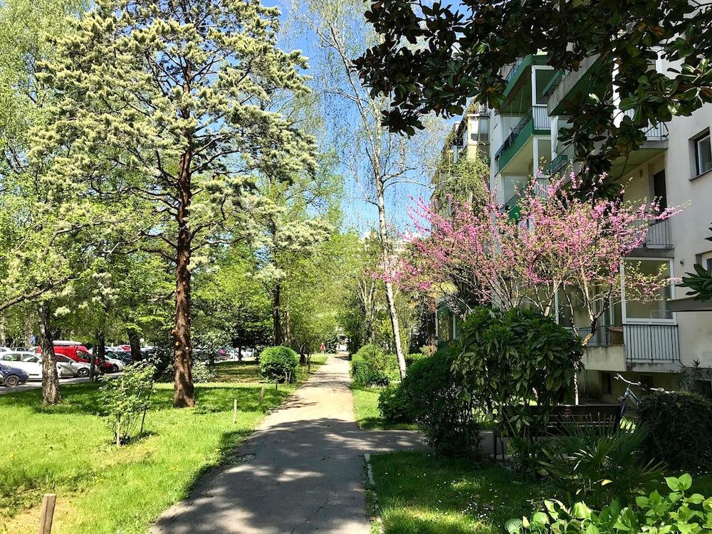 Nova Gorica. Stadt der Bäume mit ...
