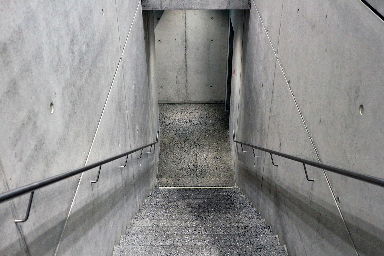 Werkraum Bregenzerwald. Zum Untergeschoss mit dem Depot und weiteren Räumen.