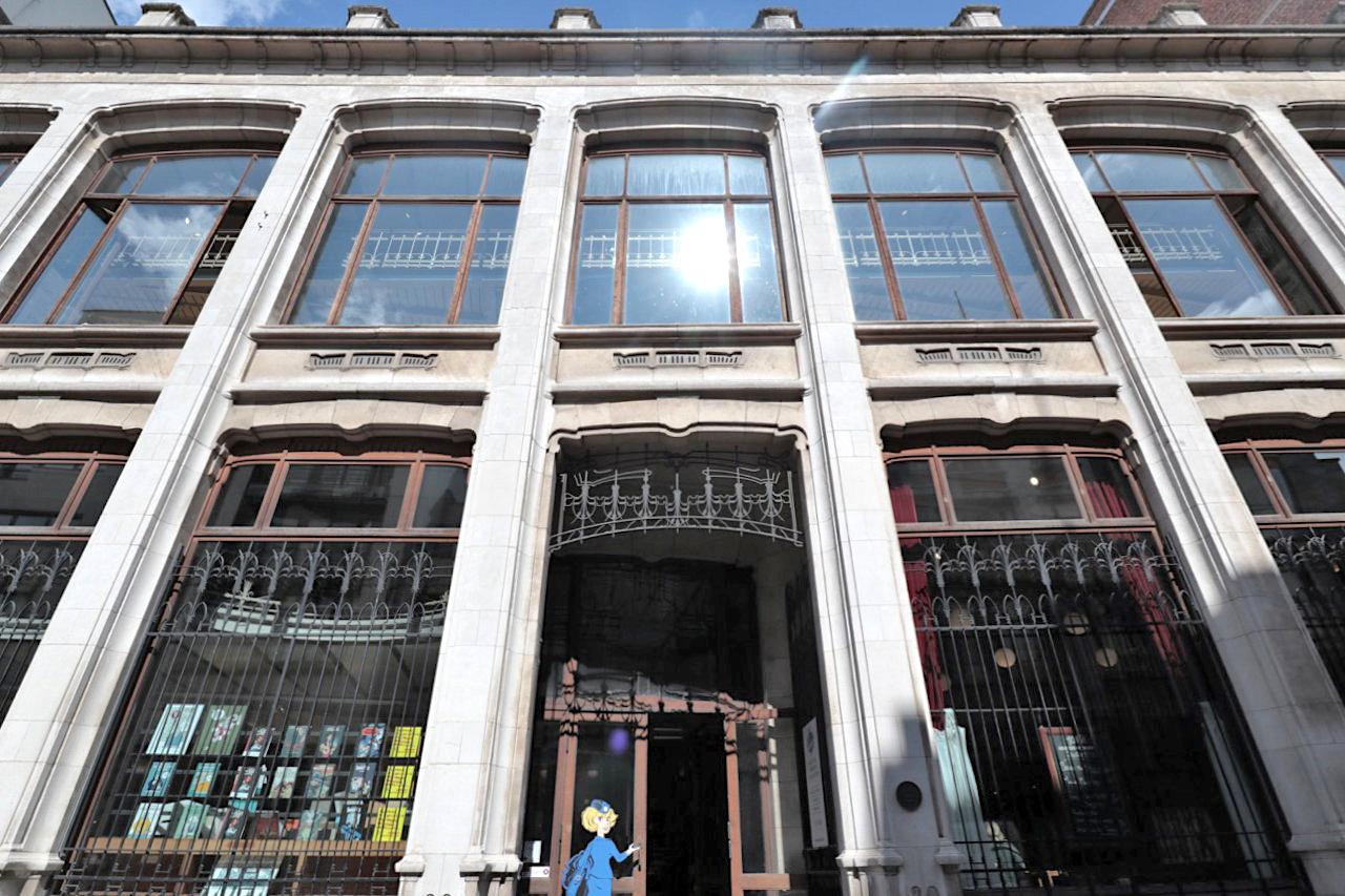 Belgisches Comiczentrum BCZ. Architekt: Victor Horta, Fertigstellung: 1906