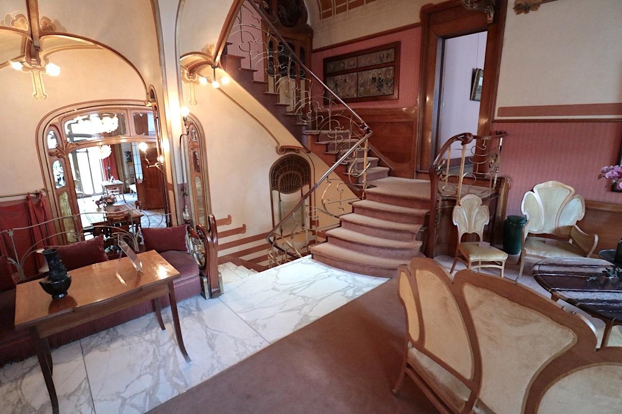 Horta Museum. Fließende Übergänge zwischen dem Treppenhaus und den Räumen