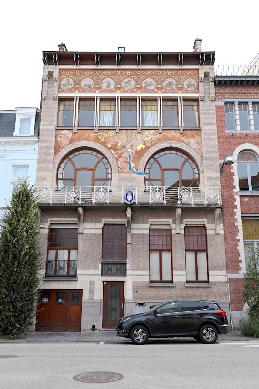 Hôtel Ciamberlani. Architekt: Paul Hankar, Fertigstellung: 1897