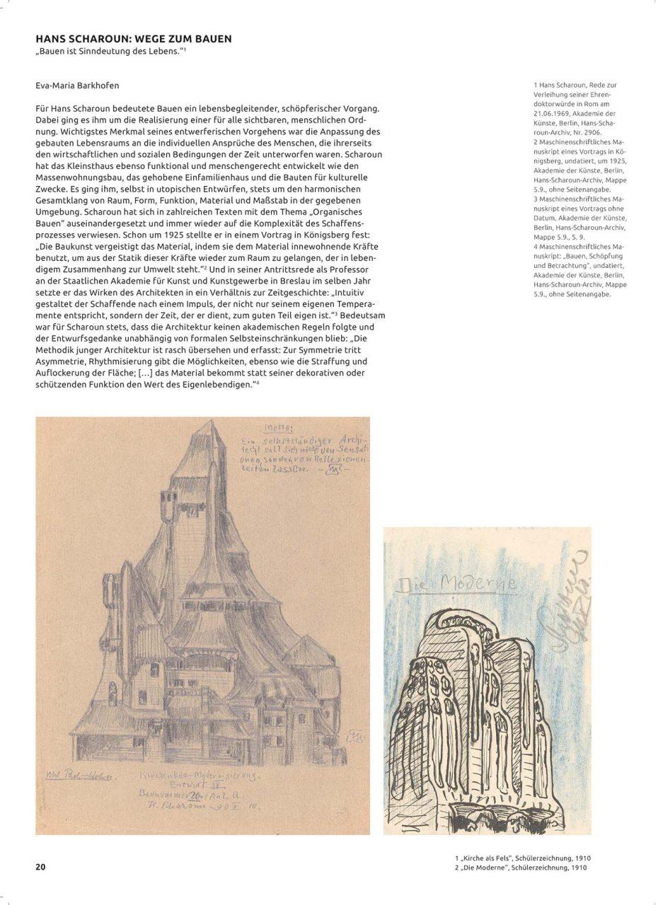 Hans Scharoun – Bauten und Projekte. Mit einer Einleitung von Dr. Eva-Maria Barkhofen, Leiterin des Baukunstarchivs der Akademie der Künste in Berlin.
