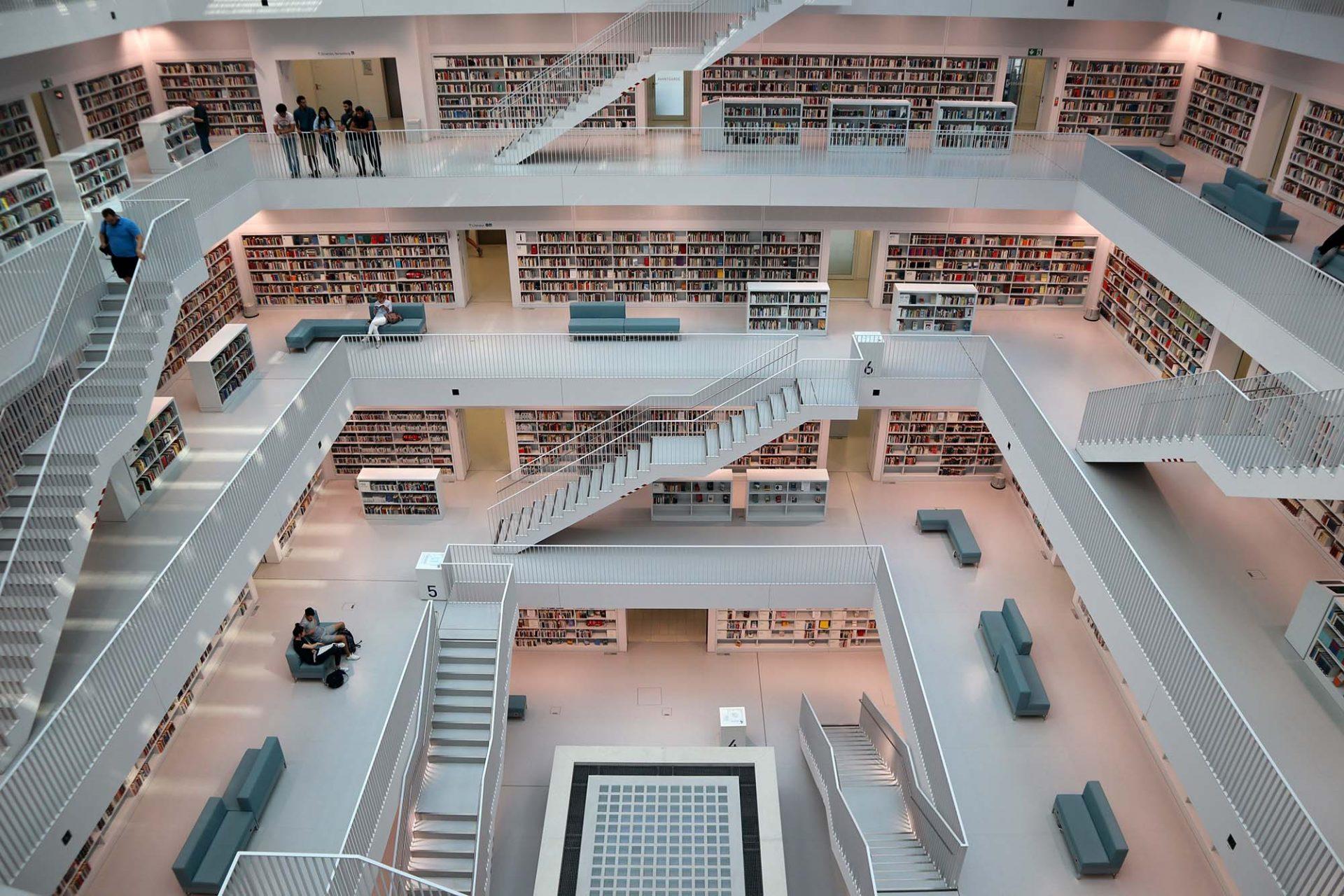 """Stadtbibliothek. """"Stammheim II"""" (als Vergleich mit der Justizvollzugsanstalt Stuttgart)"""