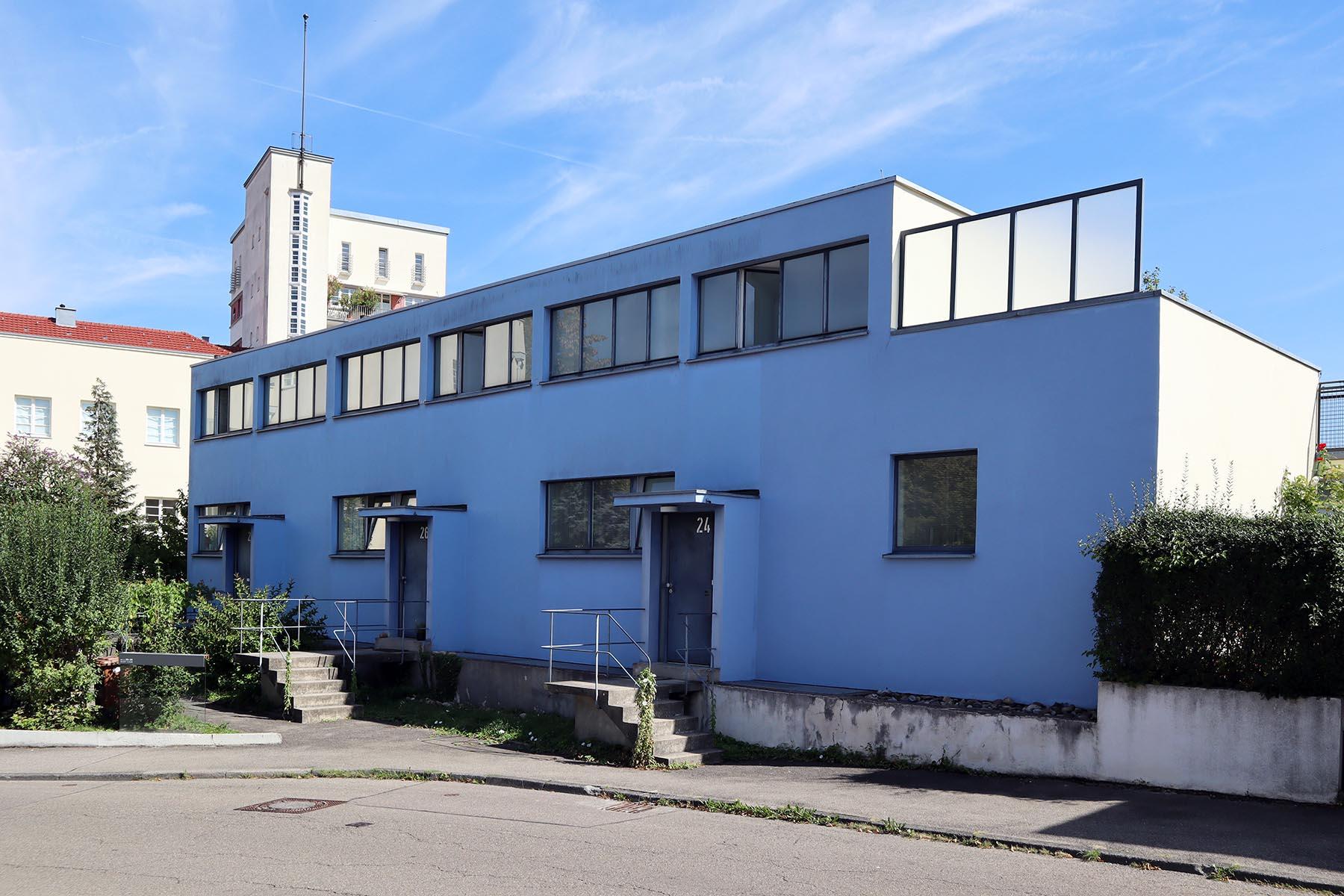 Weissenhofsiedlung. Reihenhäuser von Mart Stam. Am Weißenhof 24–28.