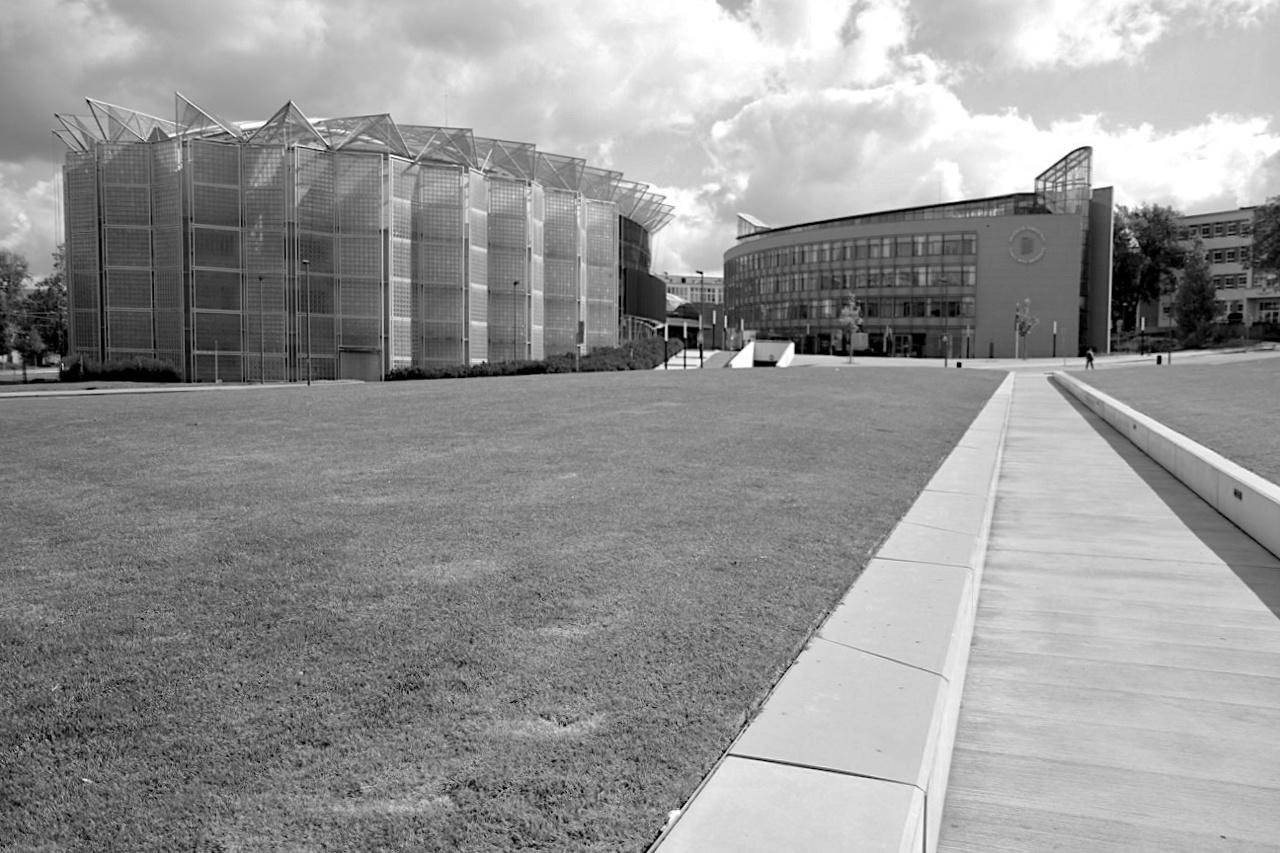 Gahura-Prospekt. Die Grünanlage wurde 2013 vom Zlíner Architekturbüro Ellement umgestaltet.
