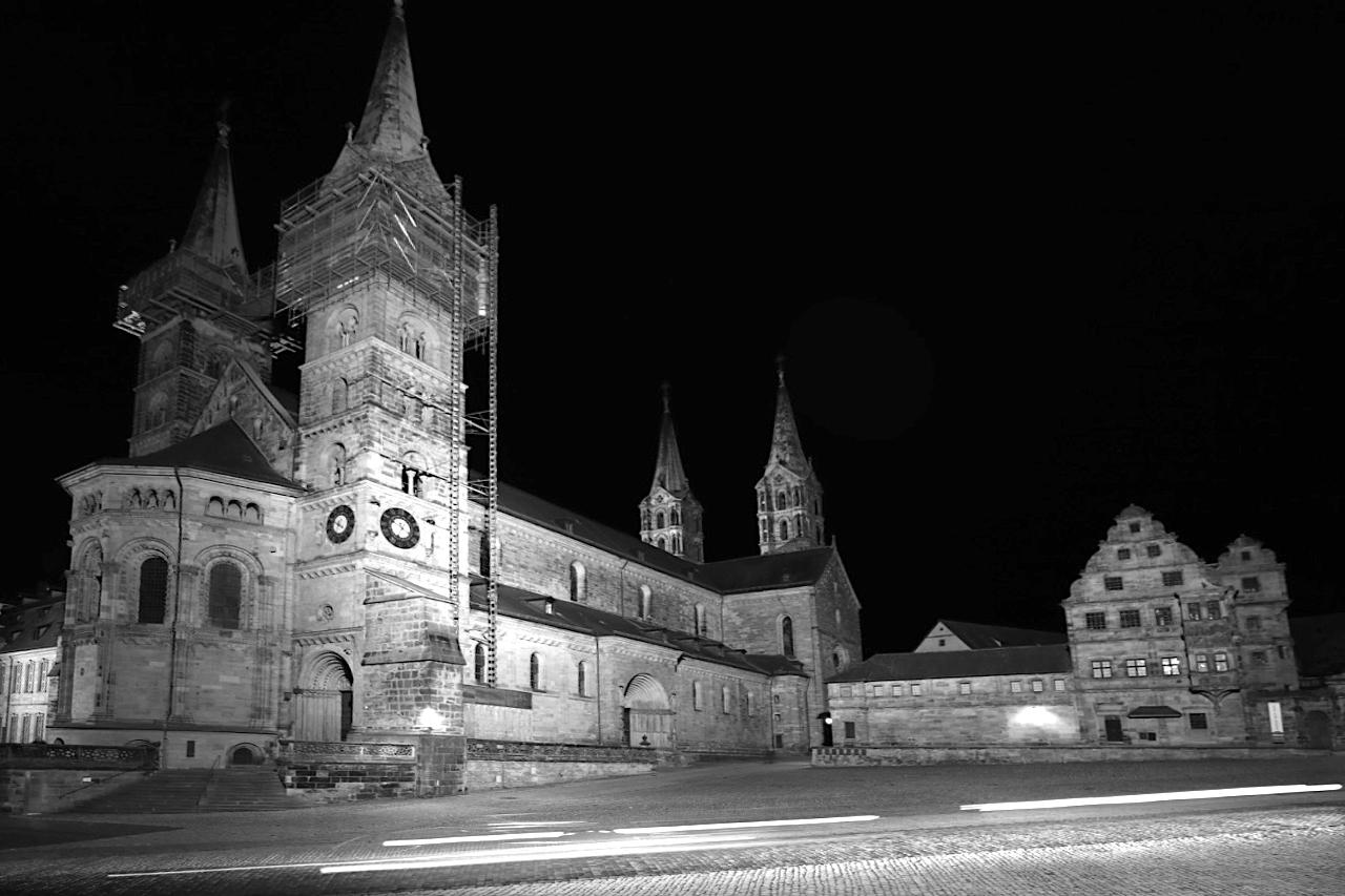 Bamberg. Der Dom, das Historische Museum und die Alte Hofhaltung auf dem Domplatz