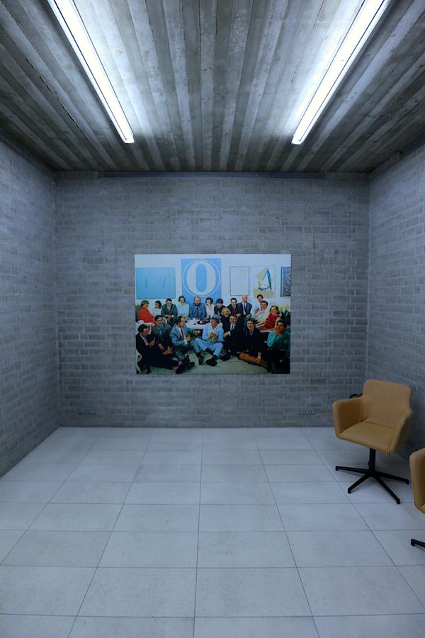 Schmela Haus. Gruppenbild, ca. 1968 u. a. mit Gerhard Richter, Joseph Beuys, Günther Uecker, Monika und Alfred Schmela.