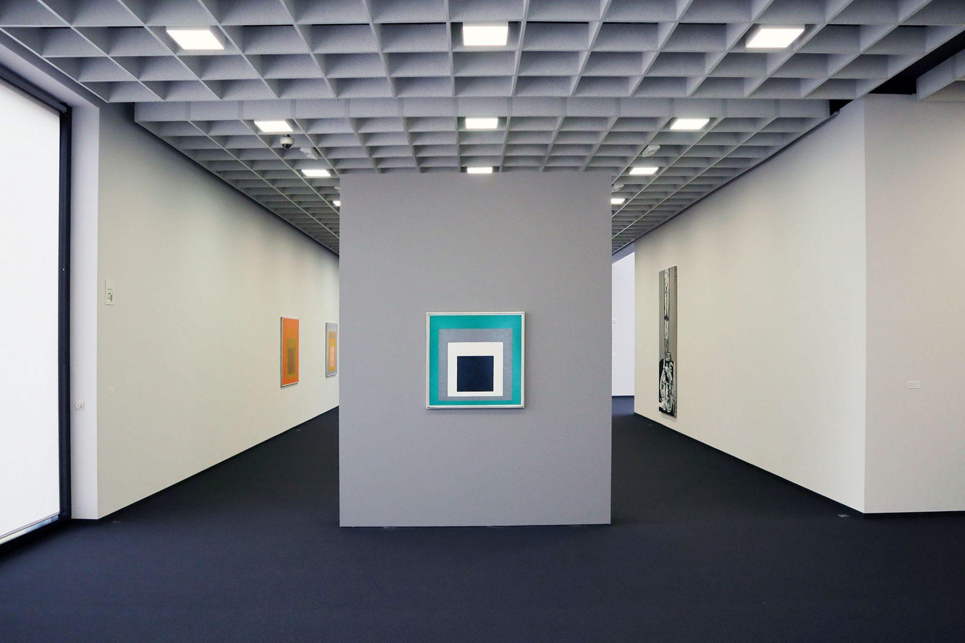 Josef Albers Museum Quadrat. Das Quadrat ist das bestimmende Motiv in Albers Arbeiten und in der Architektur des Museums.