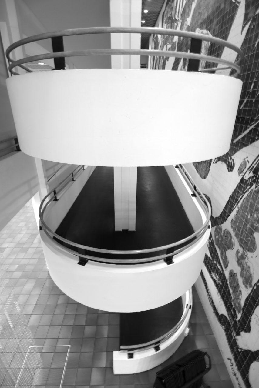 Kunstmuseum Bochum. Eines der zentralen Elemente ihres Kunstmuseums in Bochum ist die lange, gewundene Rampe.