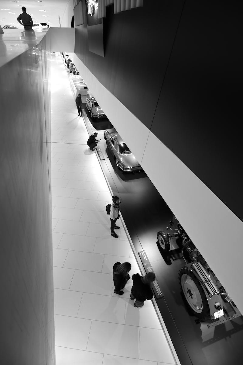 Porsche Museum. Die Gesamtkosten betrugen rund 100 Millionen Euro.