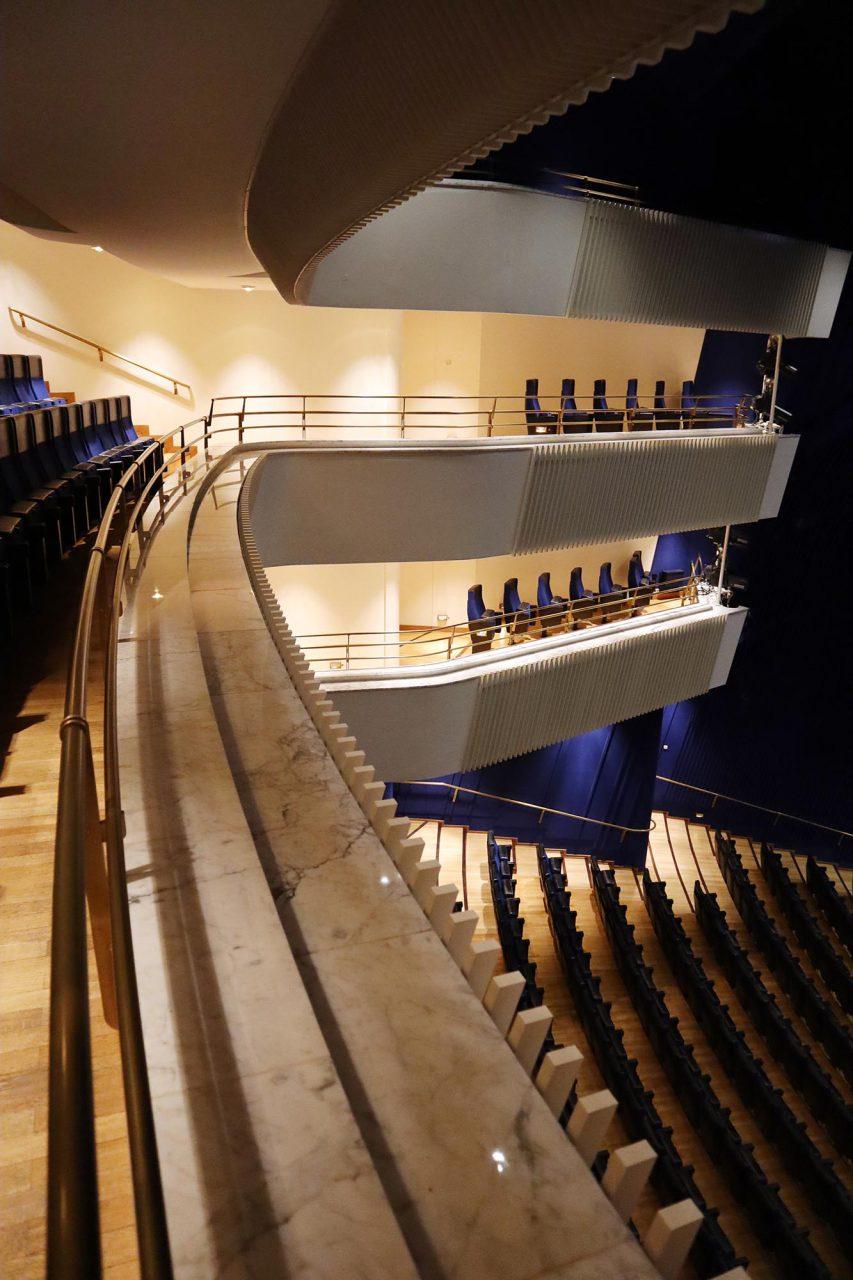 Aalto Musiktheater. Die Umsetzung von Aaltos Wettbewerbsentwurf dauerte 30 Jahre.