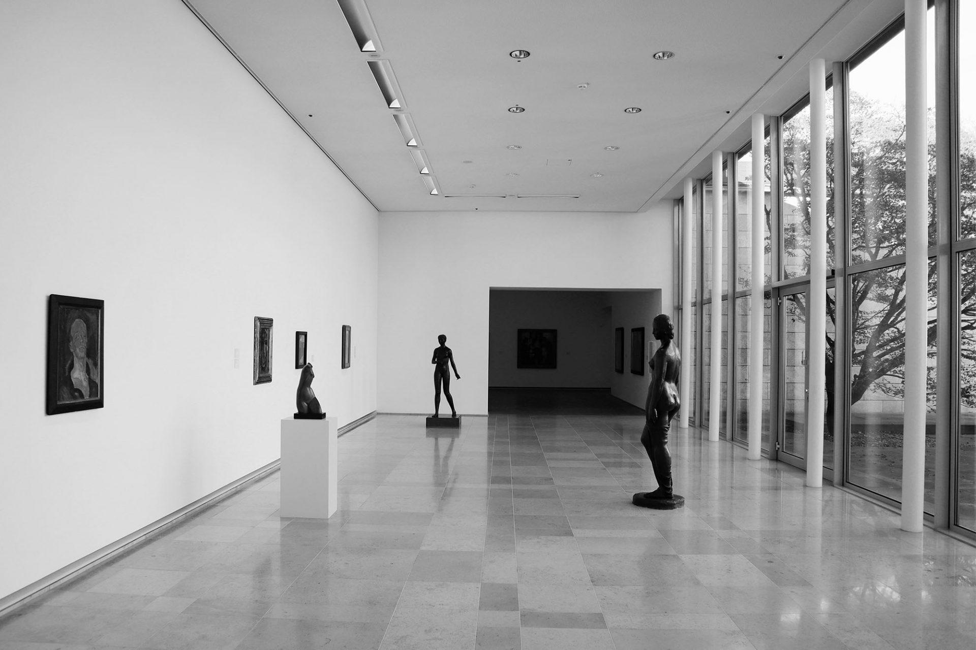 Museum Folkwang. Ursprünglicher Bau: Horst Loy mit W. Kreutzberger und E. Hösterey. Fertigstellung. 1960.