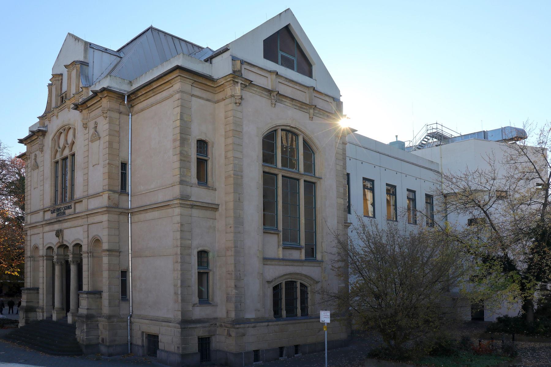 Osthaus Museum. Entworfen von Carl Gérard (1898). Die Innenausstattung stammt von Henry van de Velde (1902).