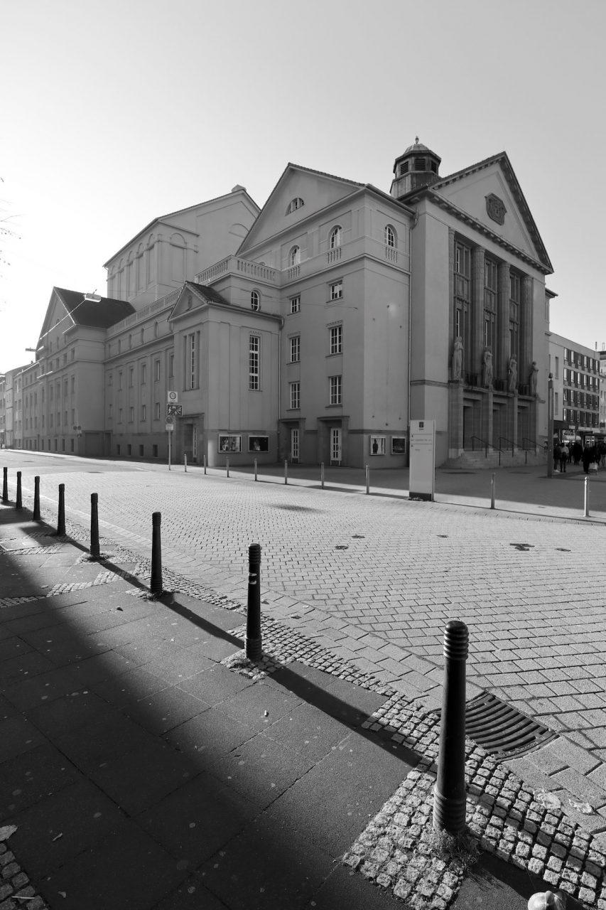 Hagen Theater. Entwurf: Ernst Friedrich Vetterlein (1911), 1949 wiederaufgebaut.