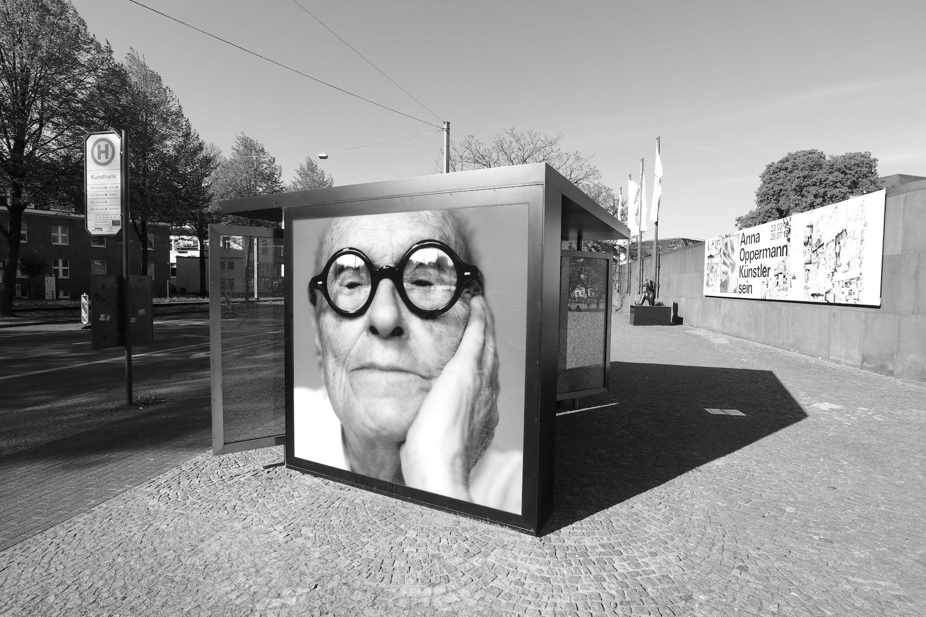 Installation an der Kunsthalle Bielefeld