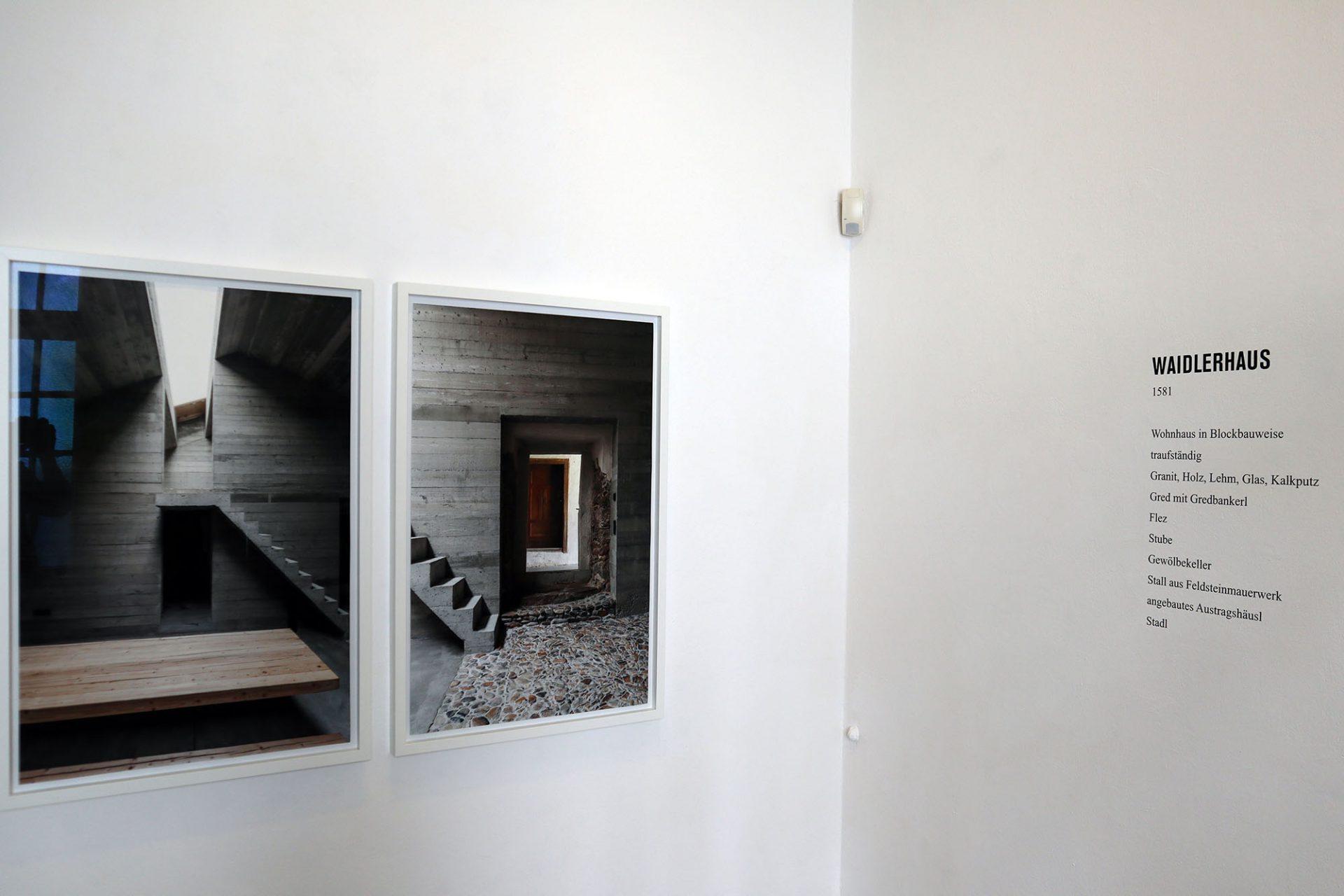 Bayerwaldzyklus Peter Haimerl. Architektur.. Waidlerhaus Blaibach, Wohnhaus in Blockbauweise