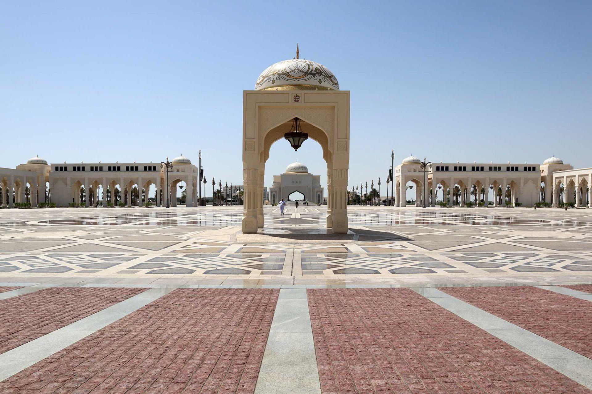 Qasr Al Watan. Die Anlage wurde im März 2019 für die Öffentlichkeit zugänglich gemacht.