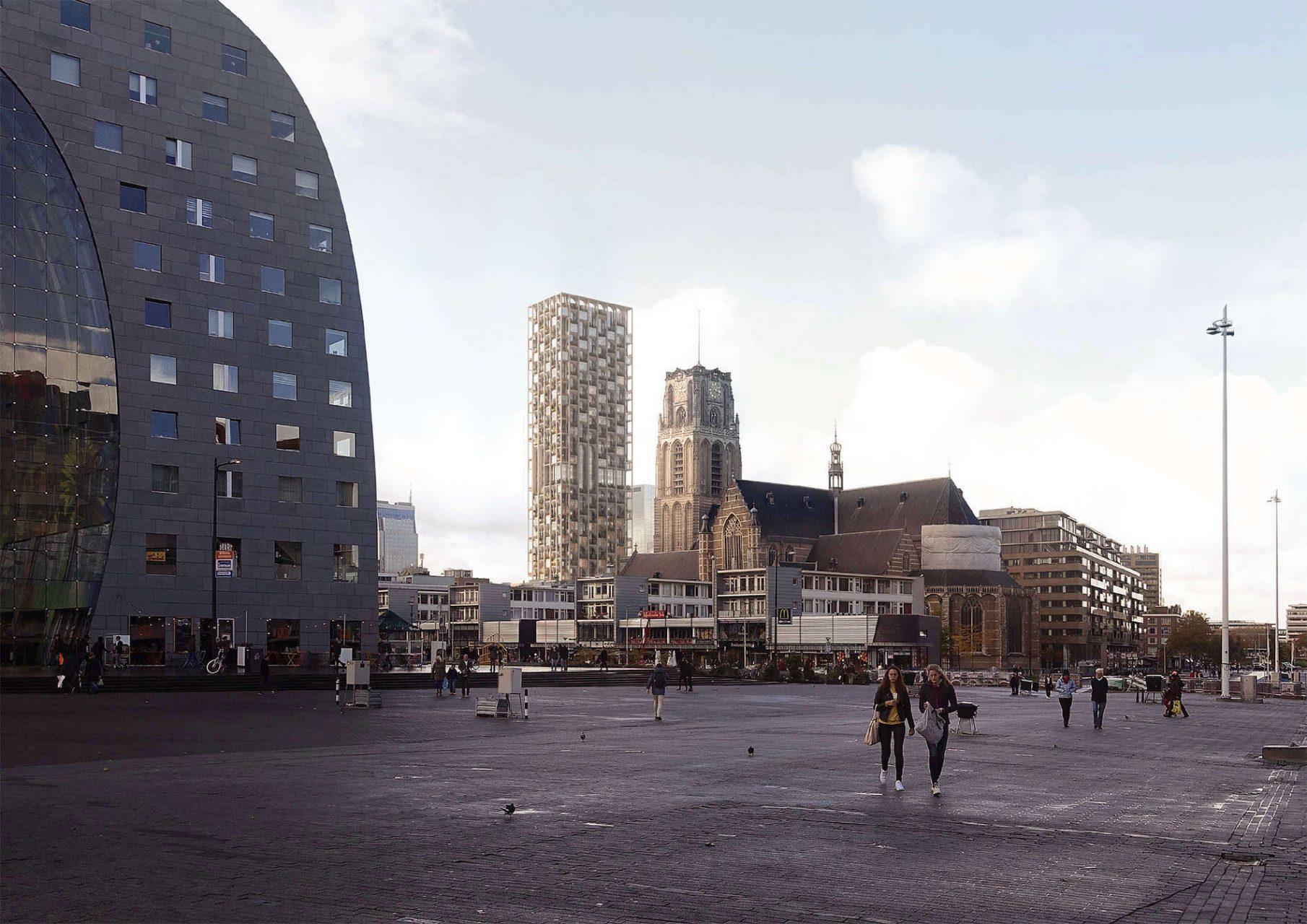 POST. Ein neuer Blickfang in Rotterdams Skyline. Baubeginn 2019.
