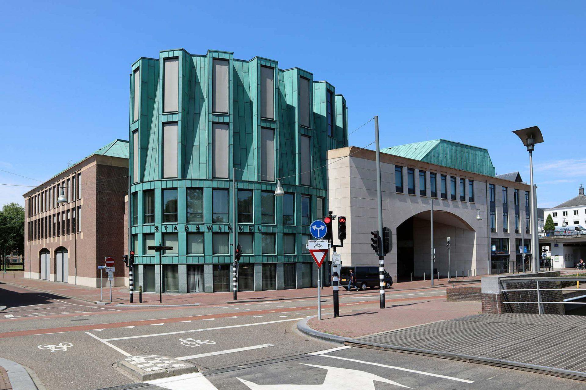 Boscotondo-Komplex. Der Wohn-, Geschäfts- und Kulturkomplex entstand zwischen 1999 und 2001 auf dem ehemaligen Fabrikgelände der Firma Begemann.