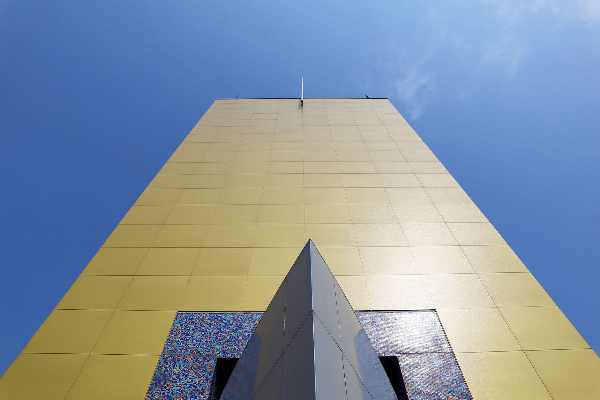 Groninger Museum. Der gelbe Turm von Alessandro Mendini