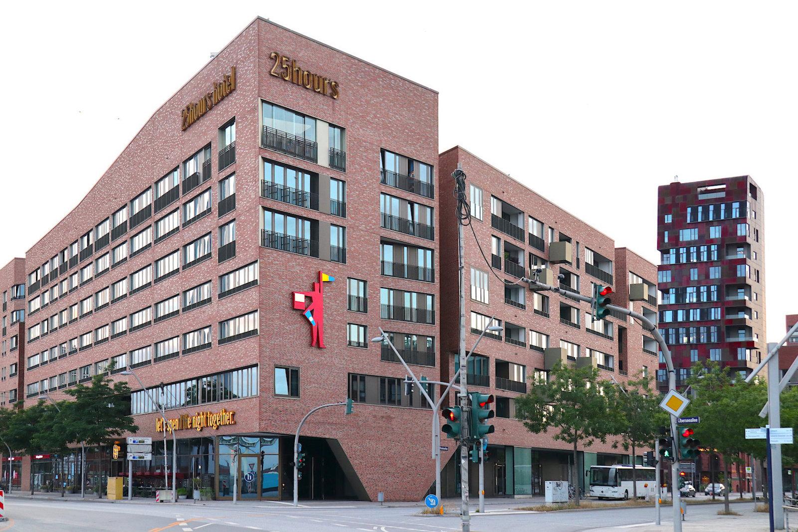 25hours Hotel Hafencity. Entwurf: Böge Lindner 2K Architekten, Hamburg. Fertigstellung: 2011