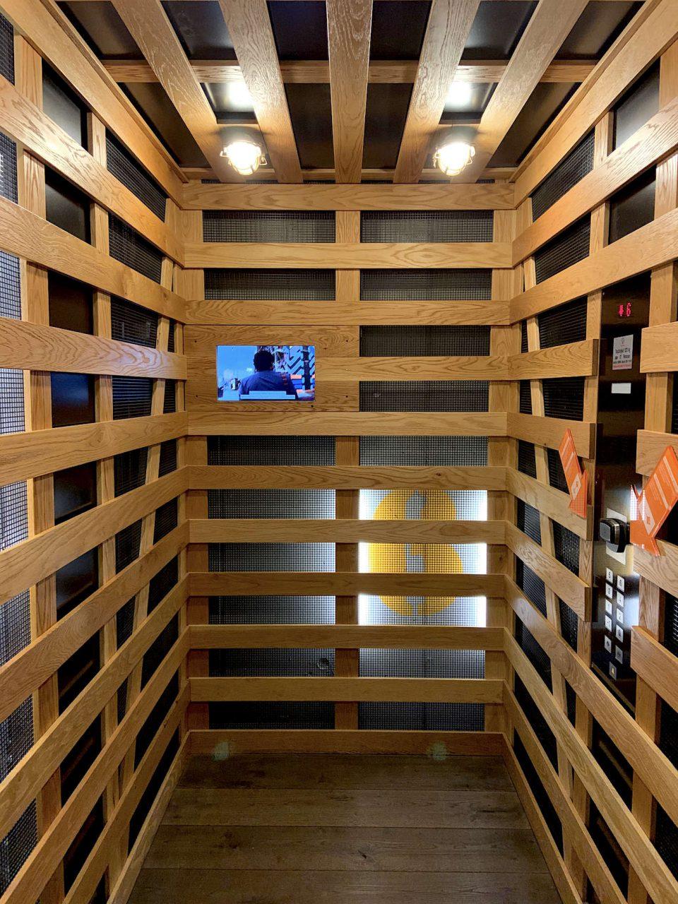 25hours Hotel Hafencity. Elemente und Materialien aus dem Schiffbau sind Teil der Erzählung des Hotels.