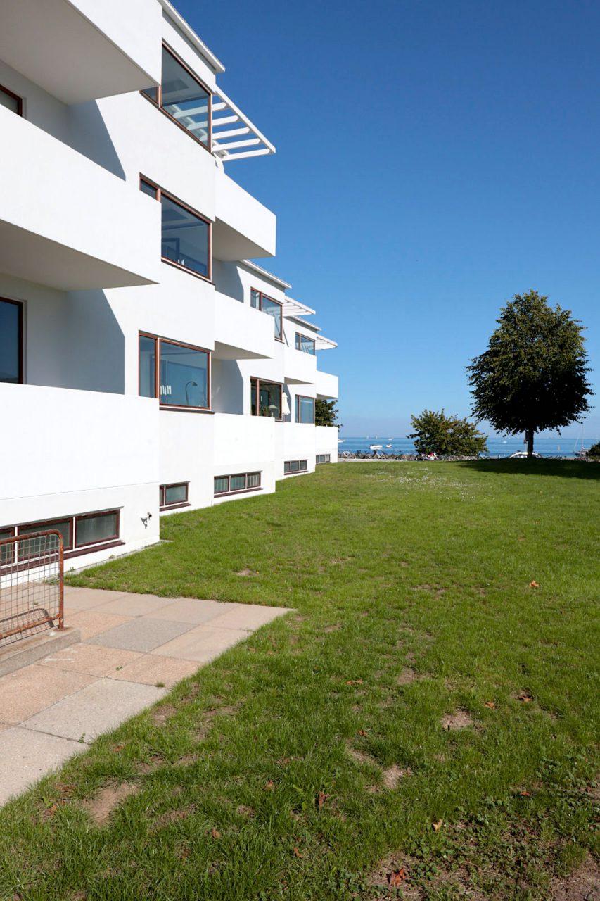 Bellavista Wohnanlage. Arne Jacobsen gewann den Wettbewerb für den Bau des Bellevue- und Bellavista-Komplexes.