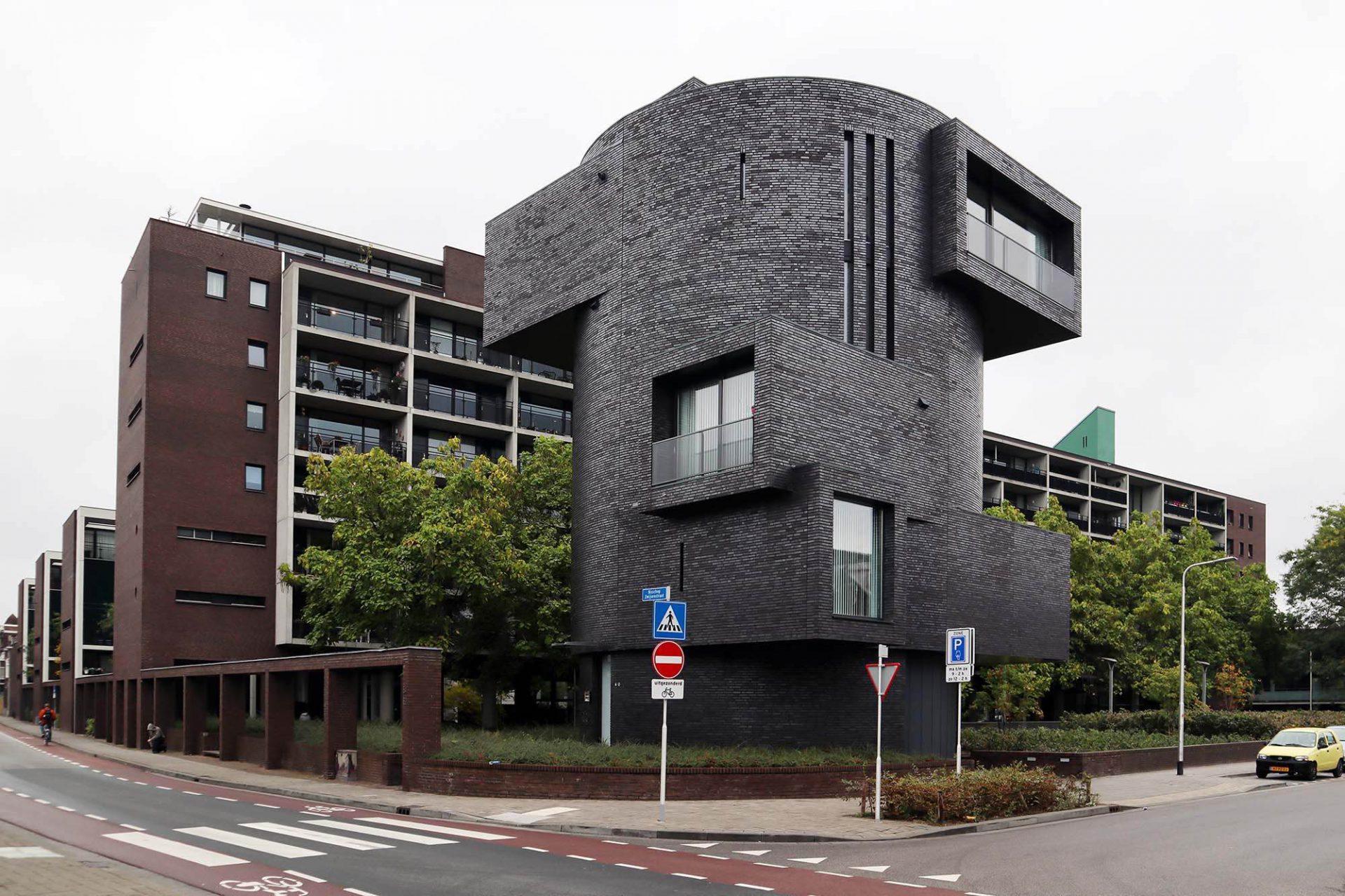 Duikklok. Der fünfgeschossige Wohnturm entstand 2011 nach Plänen von Bedaux de Brouwer Architecten.
