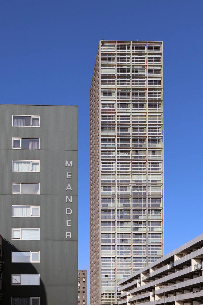 Westpoint Tower. Der Turm wurde 2004 nach einem Entwurf von Margriet Eugelink (Van Aken Architektuur) fertiggestellt.
