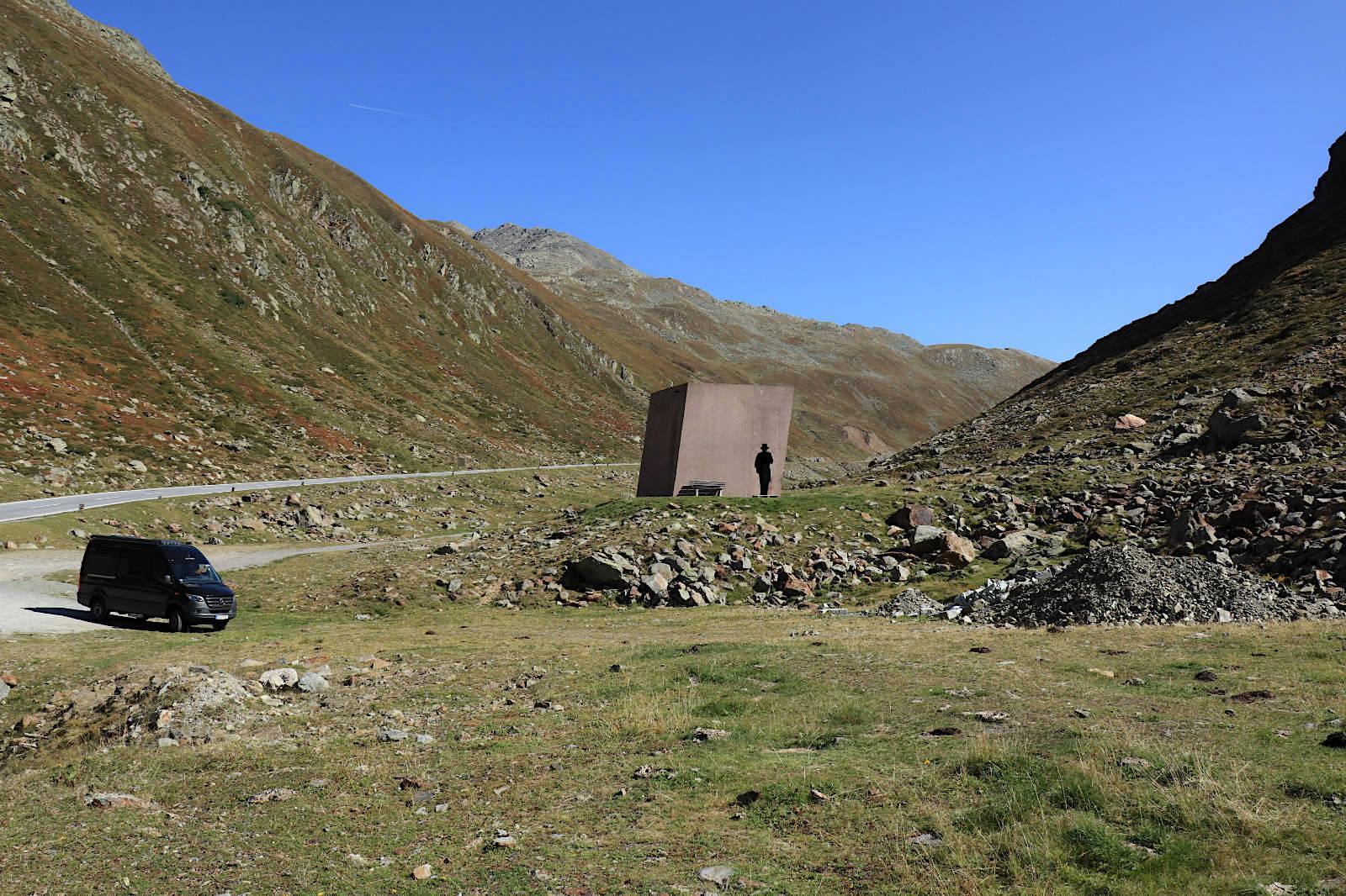 Mit Hymer zur alpinen Baukunst in Südtirol, 2