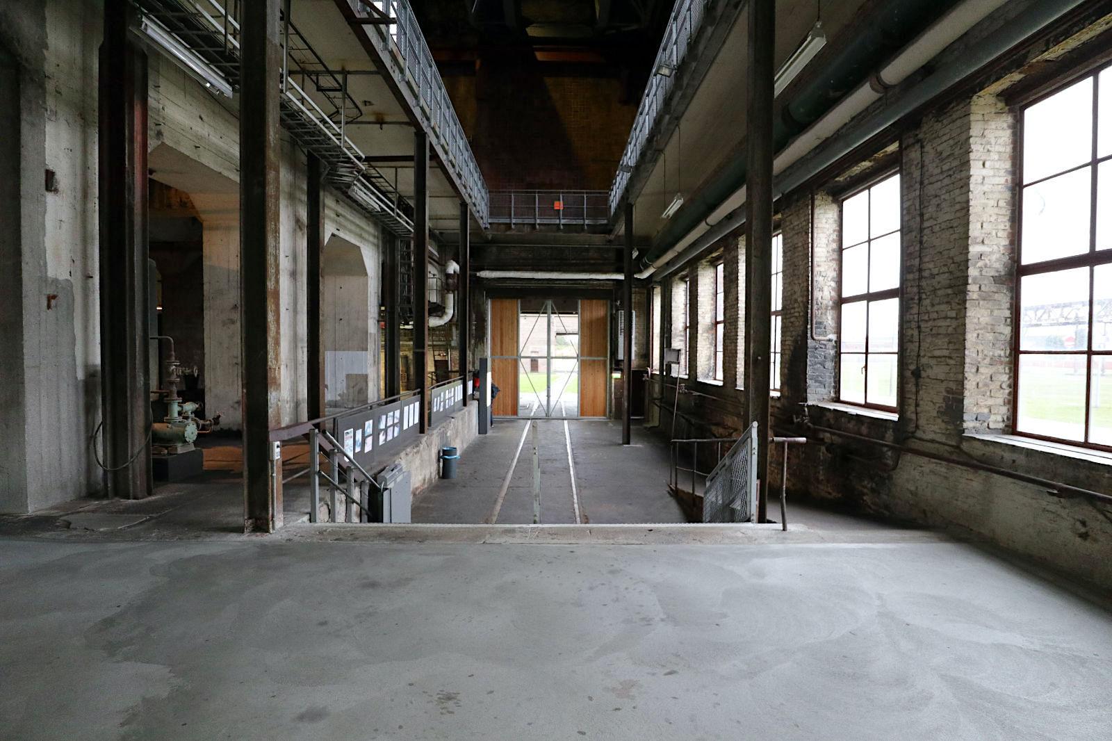 HTM Peenemünde. Im Kesselhaus befindet sich eine Ausstellung über die Geschichte ...