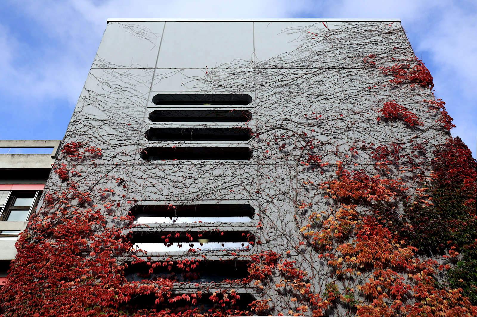 Pädagogische Hochschule. Sanierung 2012, Assem Architekten, Ursprungsbau 1974. Das Gebäude wurde 1974 in Skelettbauweise aus Stahlbetonelementen erstellt. Das Karlsruher Büro Assem Architekten war von 2004–2012 für die umfangreiche Schadstoffsanierung verantwortlich.