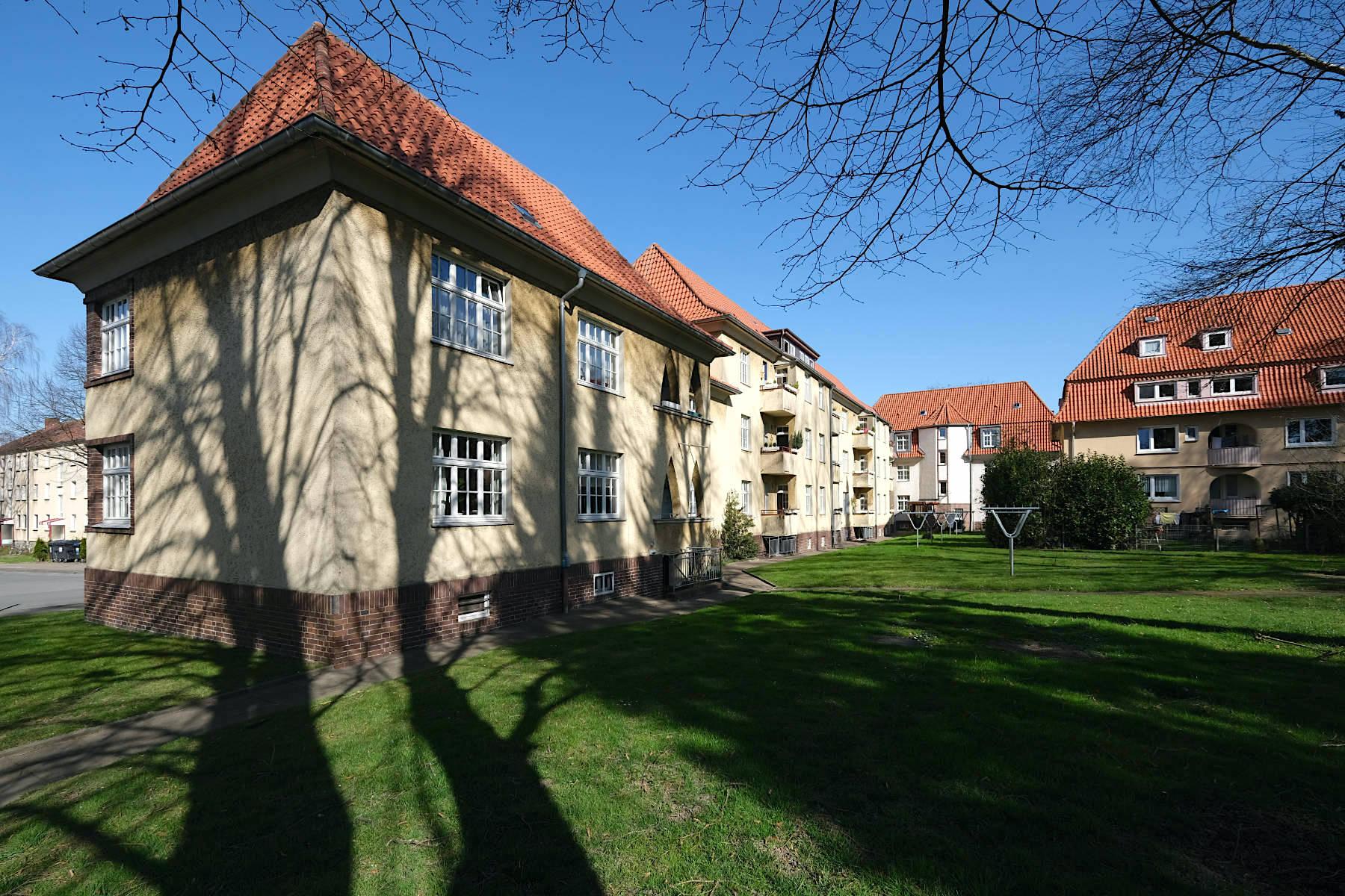 Siedlung Im Siekerfelde. Die Baugenossenschaft Freie Scholle entstand als Reaktion auf ein Verbot der Stadt.