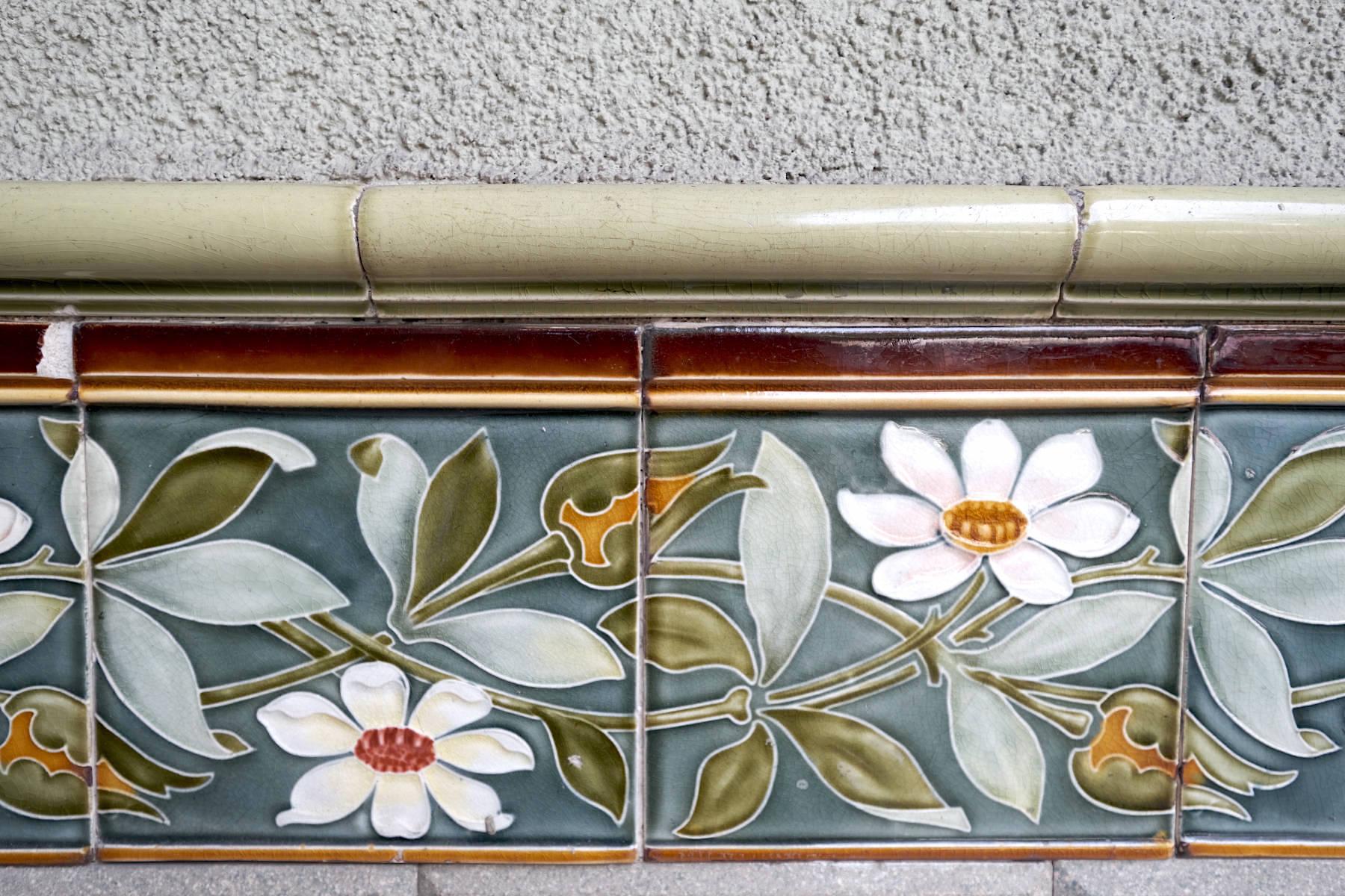 Karlsruher Jugendstil. Florales am Wohnhaus in der Yorckstr. von Ludwig Trunzer